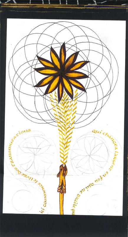 calligraphie géométrie sacrée