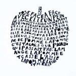 calligramme la pomme de Picasso
