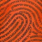 Empreinte du pouce calligramme calligraphie