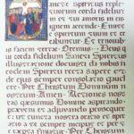Prière réalisée en gothique rotunda avec un ocre de Roussillon comme encre