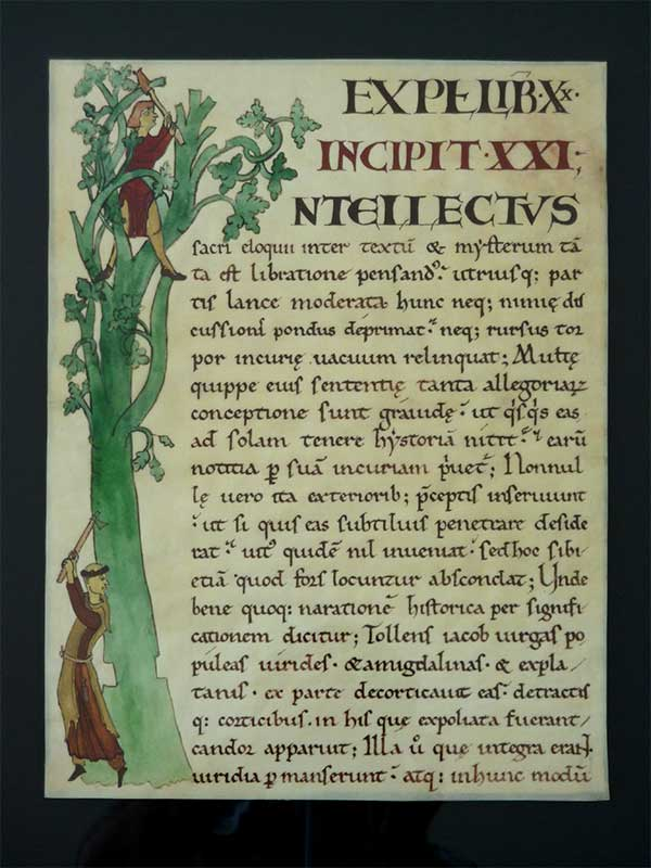 exposition manuscrit enluminé médiéval
