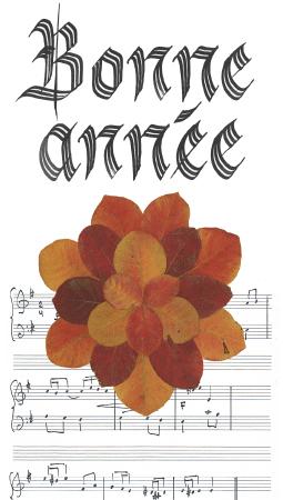 carte bonne année calligraphie
