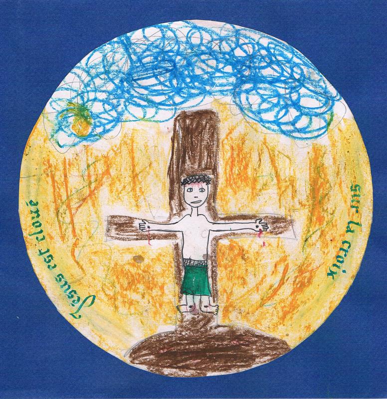 chemin de croix atelier calligraphie avec enfants