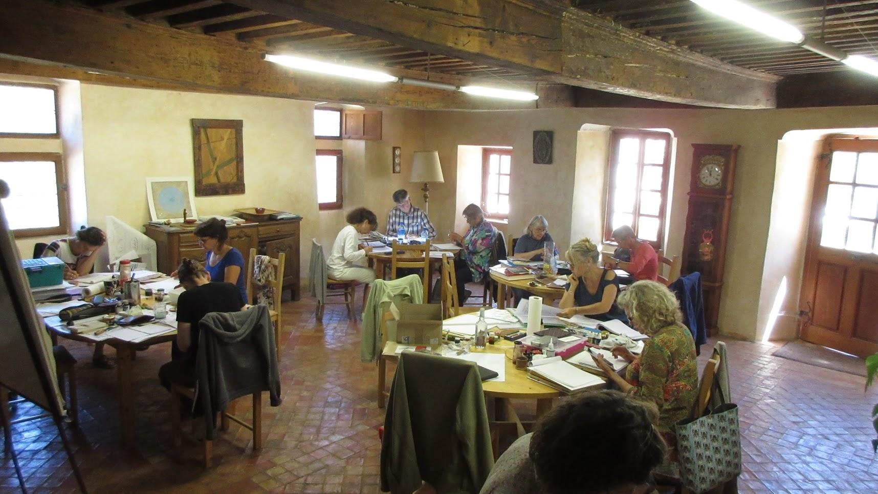 stage de calligraphie latine abbaye du boscodon