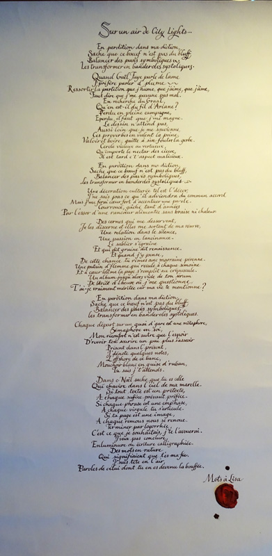 slam amoureux calligraphie