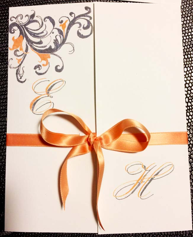faire part mariage calligraphie anglaise