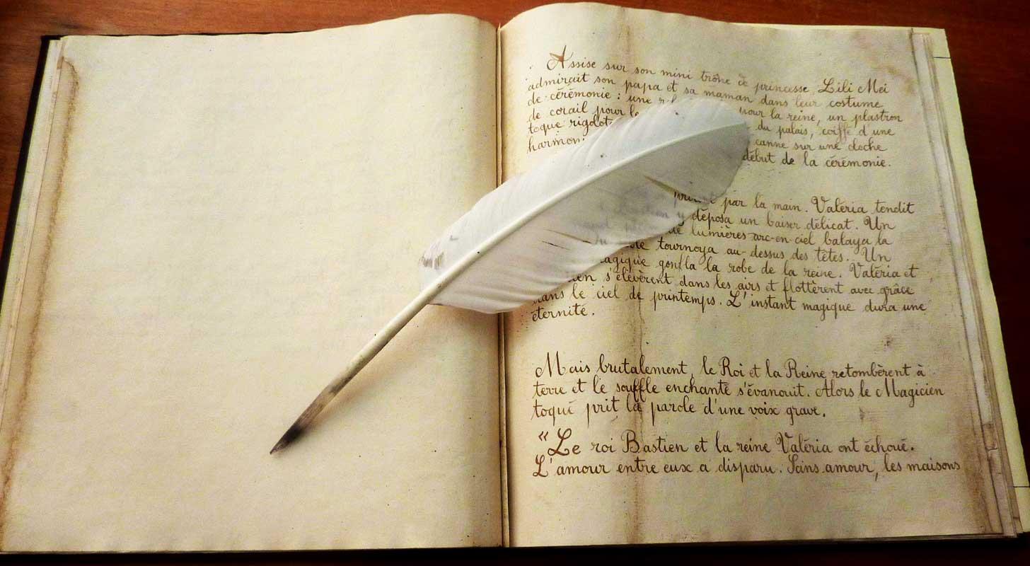 livre calligraphié cadeau conte pour filleule
