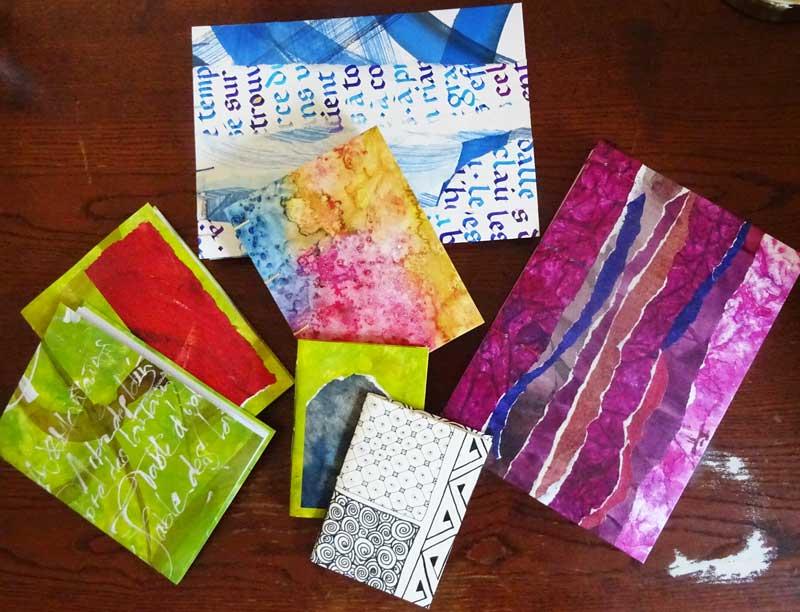 carnets et cahiers reliés encres calligraphie sur couvertures