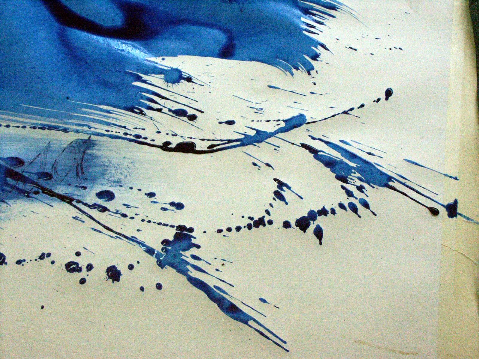 création encre bleue