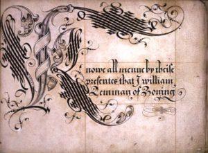 lettre cadeau lettrine renaissance ornement calligraphie